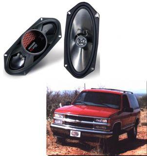 KICKER CAR AUDIO PACKAGE W/ 2 KS4100 4X10 STEREO SPEAKERS FITS TAHOE