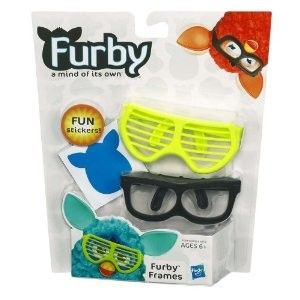 Furby Yellow and Black Glasses Frames Stickers  New