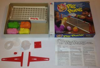 Pig Pong Table Top Family Game Fun Vintage Kids
