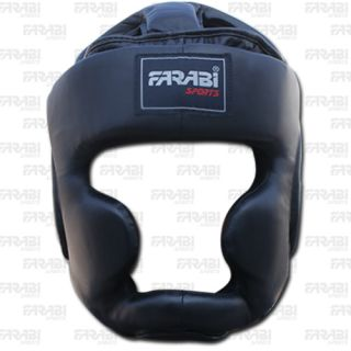 Boxing Head Guard Kick Boxing Head Protection Leather Helmet Color All