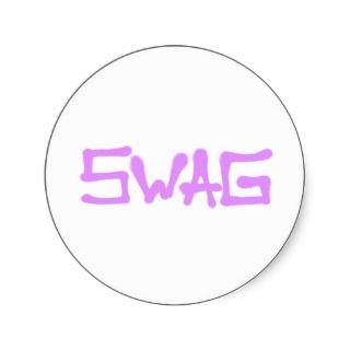 Swag Tag   Pink Sticker