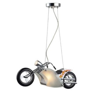 New Elk Childrens Boys 1 Light Motorcycle Pendant Lighting Fixture