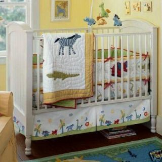Pottery Barn Kids Safari Jungle Zoo Animals Crib Quilt Nursery Set