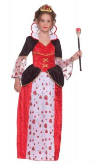 Queen of Hearts Child Costume Size L Large 12 14 New Alice in