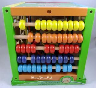 Kid Connection Wooden Deluxe Mini Activity Cube 5 in 1 Wood Toy