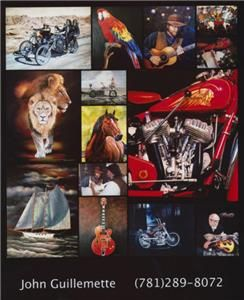Exile Chopper Motorcycle Art Edition Custom Framed Signed Print 23 w