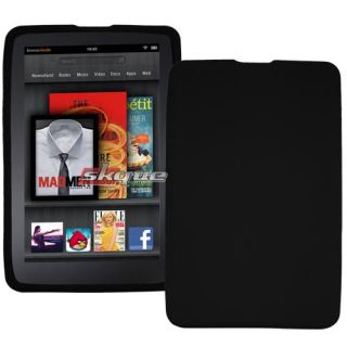 Black Premium Gel Silicone Skin Case Cover for  Kindle Fire