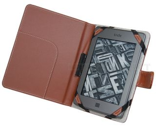 Leather Case Cover Folio for  Kindle Touch Reader 6