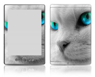 Bundle Monster  Kindle 4 Vinyl Skin Decal Sticker   Blue Kitten