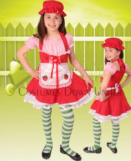 Kids Girls Strawberry Shortcake Fancy Dress Costume 10