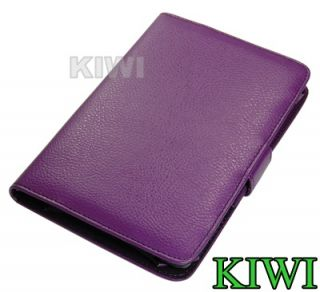 Premium Purple Folio Carry Case Cover for  Kindle Fire Tablet PU