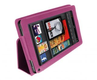 Leather Folio Stand Case Cover Holder For  Kindle Fire 7 Tablet