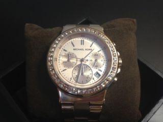 Michael Kors Rose Gold Glitz Bezel Chronograph Watch MK5586