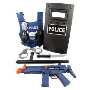 Pretend Role Play Set Costume w Handcuffs Gun Badge etc New