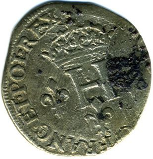 French Medieval Hammered Large Silver Coin King Henry III NR
