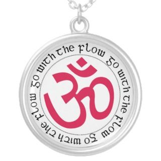 Go with the flow Om Symbol Necklaces