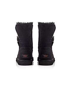 UGG Bailey Button casual flat boots Black