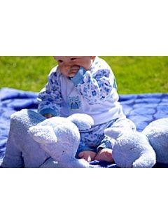 Mini Vanilla Toddler boys pyjamas and toy set   gift boxed Blue
