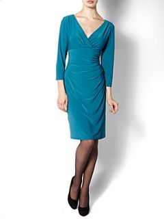 The Department Ruched side jersey dress Black