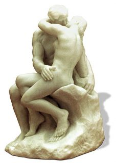 Rodin Kiss Statue Sculpture Figurine Love Wedding Gift