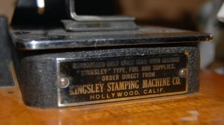 Kingsley Gold Stamping Machine