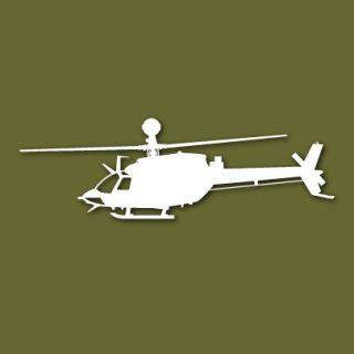 Oh 58 D KIOWA Warrior Helicopter Vinyl Sticker VSOH58DS