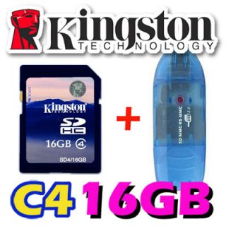 Kingston 16GB 16g SD SDHC Class 4 Secure Digital Flash Memory Card