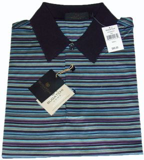 Bugatchi Uomo L Egyptian Cotton Short Sleeve Mens Golf Polo Shirts