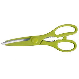 Beautiful Steel & Plastic Green Kitchen Knives 6 PCS + Block Set Knife