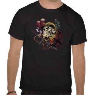 Airborne Marine Corps Parachute Skull by Al Rio T Shirts