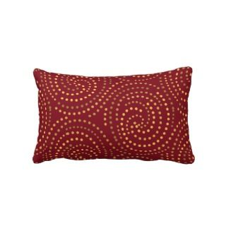 Red Swirls Lumbar Pillow