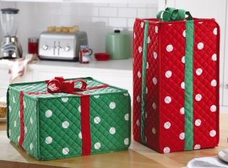 Holiday Gift Box Kitchen Appliance Covers Christmas Home Decor New