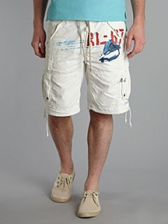 Polo Ralph Lauren Branded printed cargo short Off White