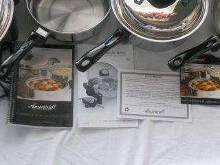Kitchen Craft Americraft Cookware Waterless Stainless Set Pots Pans