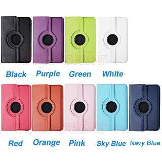 Kindle Fire 360 Degree Rotating Leather Case Cover Stylus