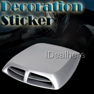Universal Car Roof Hood Air Flow Decorative Engine Vent Cover Sticker