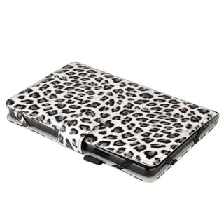 Accessory Bundles for Kindle Fire Black Leopard Leather Case Cover