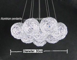 Light Aluminium Wire Ball Pendants Bundle Round Based Hanging
