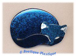 Lea Stein Blue Mosaic Red Eared Gomina The Sleeping Kitty Cat