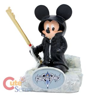 Kingdom Hearts King Mickey Mouse Resin Paperweight Statue w/ Key Blade