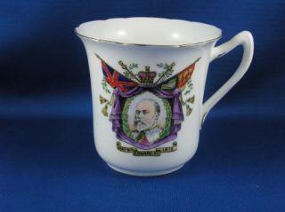 RARE King Edward VII Memoriam Mug Foley Wileman Co
