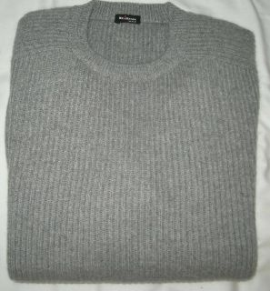 KITON Napoli Sweater Gray 100 Cashmere Size 40 R 50EU New