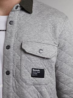 Bench Long sleeved quilted cordurouy shirt Grey