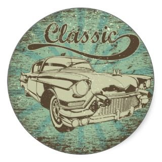 Car ~ Vintage Classic Automobile Hot Rod Stickers