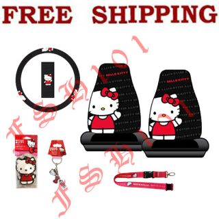 brand new set sanrio core hello kitty waving auto interior set