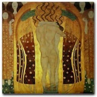 Gustav Klimt Ceramic Art Deco Tile Beethoven Frieze DET