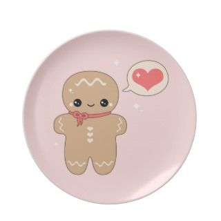Cute Gingerbread Man Plates