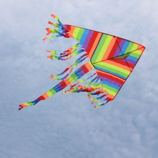 Kites Colorful Kite Long Tail Kite Outdoor Sport Park Beach Kite Toys