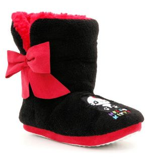 Hello Kitty Plush Sherpa Lined Panda Boots Slippers