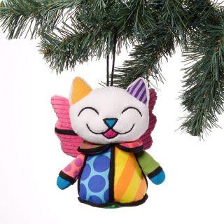Romero Britto Angel Kitty Cat Christmas Stuffed Plush Ornament 4027893